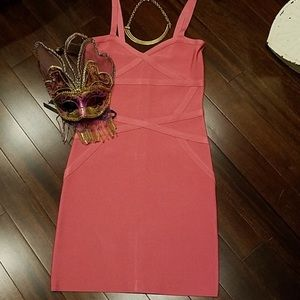 Pink Bebe body-con mini dress
